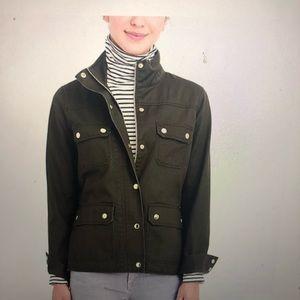 J crew utility jacket waterproof and versatile